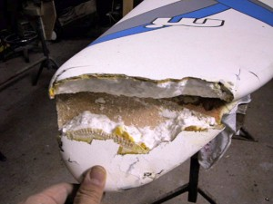 Repair to windsurf nose