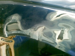 repair to fiberglass car wing