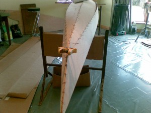 17 foot Sea Kayak project, stitch and glue construction