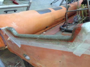 Transom repaired