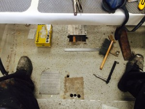 New bilge sump to be fabricated and drain holes filled