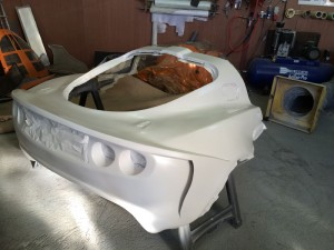 Rear clamshell primed