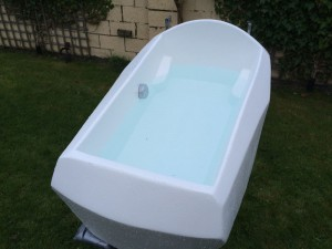 The finished tub