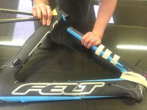Felt Carbon frame repair 2